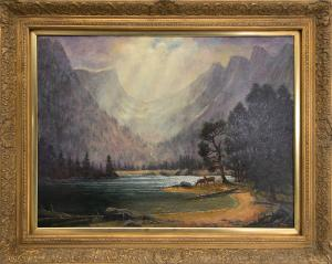 "Jerry Malzahn, ""After the Storm (Dream Lake, Rocky Mountain National Park)"", oil painting fine art for sale purchase buy sell auction consign denver colorado art gallery museum"