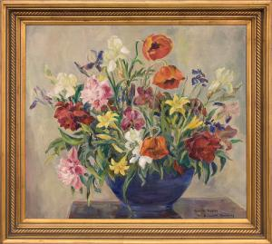 "Elisabeth Spalding, ""Oriental Poppies"", oil painting fine art for sale purchase buy sell auction consign denver colorado art gallery museum"