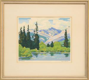 """Alfred James Wands, """"Colorado"""" silkscreen print painting fine art for sale purchase buy sell auction consign denver colorado art gallery museum"""