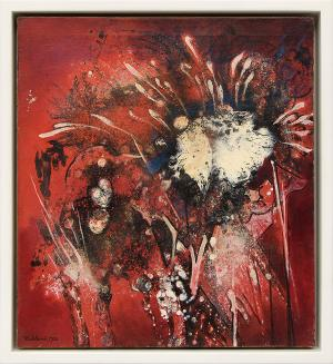 """Vance Kirkland, """"Fourth of July"""" abstract oil painting fine art for sale purchase buy sell auction consign denver colorado art gallery museum"""