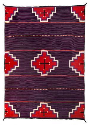 navajo germantown moki blanket, cross, vintage, 19th century, textile, rug, Native American Indian antique vintage art for sale, southwestern