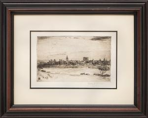"Lester E. Varian, ""Untitled"", etching painting fine art for sale purchase buy sell auction consign denver colorado art gallery museum"