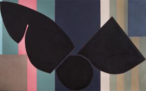 """Sidney Guberman, """"Somethin' Stupid"""", oil abstract painting 1988 20th century modern fine art for sale purchase buy sell auction consign denver colorado art gallery museum"""
