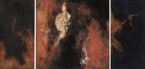 "Ruth Todd, ""Continuum (Triptych)"", mixed media, 1961 painting fine art for sale purchase buy sell auction consign denver colorado art gallery museum"
