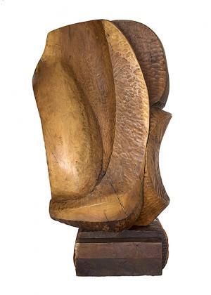 "Edward Chavez Eduardo Chavez Arcenio ""Emperor"" wood, circa 1975 sculpture fine art for sale purchase buy sell auction consign denver colorado art gallery museum"