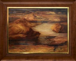 """Anna Keener, """"Rockies and Water"""", oil painting fine art for sale purchase buy sell auction consign denver colorado art gallery museum"""
