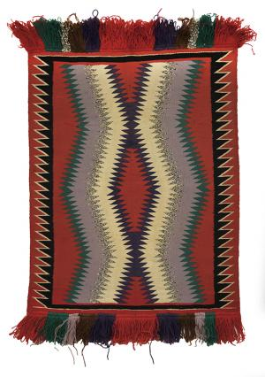 vintage navajo rug Germantown wool blanket textile circa 188019th century Native American Indian antique vintage art for sale purchase auction consign denver colorado art gallery museum