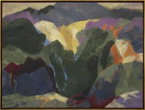 "Ethel Magafan, ""Mt. Sopris (Colorado)"", tempera, circa 1945-1965"