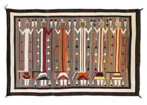 Navajo pictorial yei rug vintage yeibichai 1920s 1930s weaving textile Native American Indian antique vintage art for sale purchase auction consign denver colorado art gallery museum