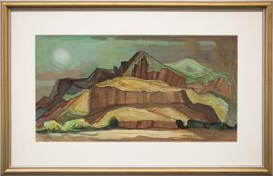 """Doel Reed, """"Spring Storm"""", casein, June 1980 painting fine art for sale purchase buy sell auction consign denver colorado art gallery museum oklahoma new mexico southwestern"""