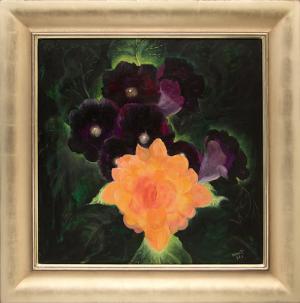 Dorothy Brett Golden Flower 1962 oil painting fine art for sale purchase buy sell auction consign denver colorado art gallery museum