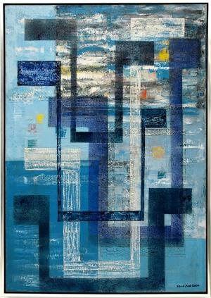 "Irene Rice Pereira, ""The Spirit of Air"", oil on canvas, c. 1950 abstract modernist painting for sale purchase art gallery"