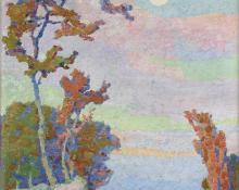 "Sven Birger Sandzen, ""Moonrise, Colorado"", oil on canvas, c. 1915"