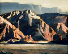 "Paul Lauritz, ""Oak Creek Canyon, Arizona"", oil, c. 1940"