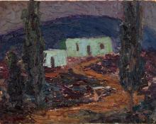 """Fremont Ellis, """"Adobe House"""", oil, 1919"""