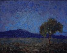 "Fremont Ellis, ""The Lone Tree"", oil, c. 1919 new mexico"