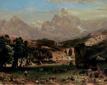 "Albert Bierstadt, ""The Rocky Mountains, Landers Peak"", chromolithograph, c. 1869"
