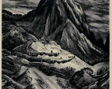 "Adolf Arthur Dehn, ""Commodore Peak, Edition of 40"", lithograph, 1942"