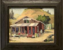 "Jon Blanchette, ""Second Hand Store - Soquel (California)"", oil, c. 1955, painting, for sale purchase consign auction denver Colorado art gallery museum"