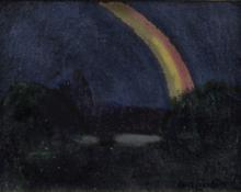 """Carl Eric Olaf Lindin, """"Rainbow"""", oil, 1906"""