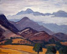 "Carl Eric Olaf Lindin, ""Untitled (Ojai Valley, California)"", oil, 1923-4"