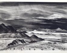 "Adolf Arthur Dehn, ""Colorado Landscape, For Jenne Magafan, Edition of 40"", lithograph, 1940"