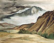 "Ethel Magafan, ""Mt. Sopris"", gouache on paper, c. 1945"