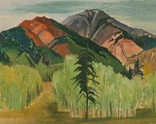 "Ethel Magafan, ""Near Redstone"", gouache on paper, c. 1945"