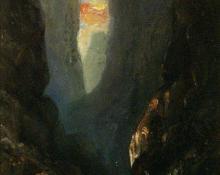 "Helen Henderson Chain, ""Royal Gorge (Field Study)"", oil, c. 1875"