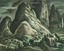 "Vance Hall Kirkland, ""A Misty Landscape"", watercolor, 1943"