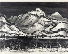 """Adolf Arthur Dehn, """"Snow Mountain"""", lithograph, c. 1963"""