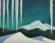 """William Sanderson, """"January"""", oil, 1965"""