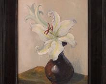 "Jon Blanchette, ""Untitled (Still Life with Lilies)"", oil painting fine art for sale purchase buy sell auction consign denver colorado art gallery museum"