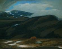 "Francis Drexel Smith, ""Untitled (Mountain Landscape, Colorado)"", oil on canvas, c. 1935"