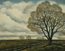 "William Sanderson, ""April, After the Rain (Colorado)"", oil on canvas, 1977"