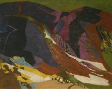 "Ethel Magafan, ""The Barrier"", tempera on board, c. 1950"
