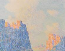 """George Elbert Burr, """"Untitled (Canyon and Clouds, Arizona)"""", pastel, c. 1920"""