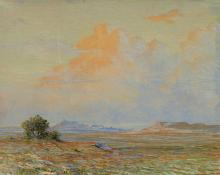 "George Elbert Burr, ""Untitled (Desert Landscape)"", pastel, 1922"