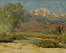 "Charles Partridge Adams, ""Pike's Peak in Early Spring - From the Valley of the Monument Creek"", oil, c. 1915 painting for sale"