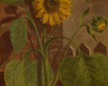 "Leslie James Skelton, ""Untitled (Still Life with Sunflower)"", oil, 1883"