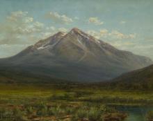 "William Henry Bancroft, ""Mt. Sopris, Carbondale, Colorado"", oil, c. 1925 painting for sale"