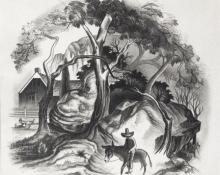 """Archie Musick, """"Untitled"""", lithograph, 1938"""