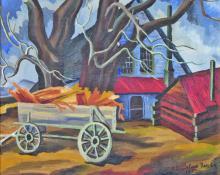"""Eve van Ek Drewelowe, """"Ranch Yard, Colorado"""", oil, November 1933"""