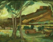 "Doel Reed, ""Untitled (Summer Evening, Taos)"", casein, 1983"