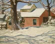 "Robert Wesley Amick, ""Snow in Denver"", oil, c. 1935"