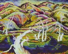 """Eve Drewelowe, """"Strangling Swamp"""", watercolor on paper, 1940  Eve van Ek"""