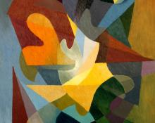 "Stanton MacDonald-Wright, ""Decouverte"", oil, 1957"