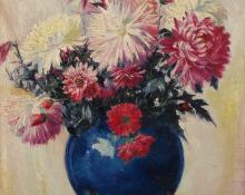 """Henry Cornelius Balink, """"Untitled (Still Life with Blue Vase)"""", oil on canvas"""