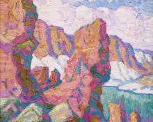 "Sven Birger Sandzen, ""Iceberg Lake, Rocky Mountain National Park, Colorado"", oil, 1930"