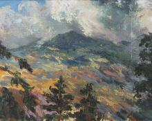 """""""Untitled (Mountain Landscape)"""", oil, second quarter of the 20th century"""
